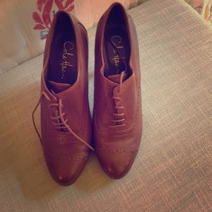 Cole Haan Lace Up Brown Booties